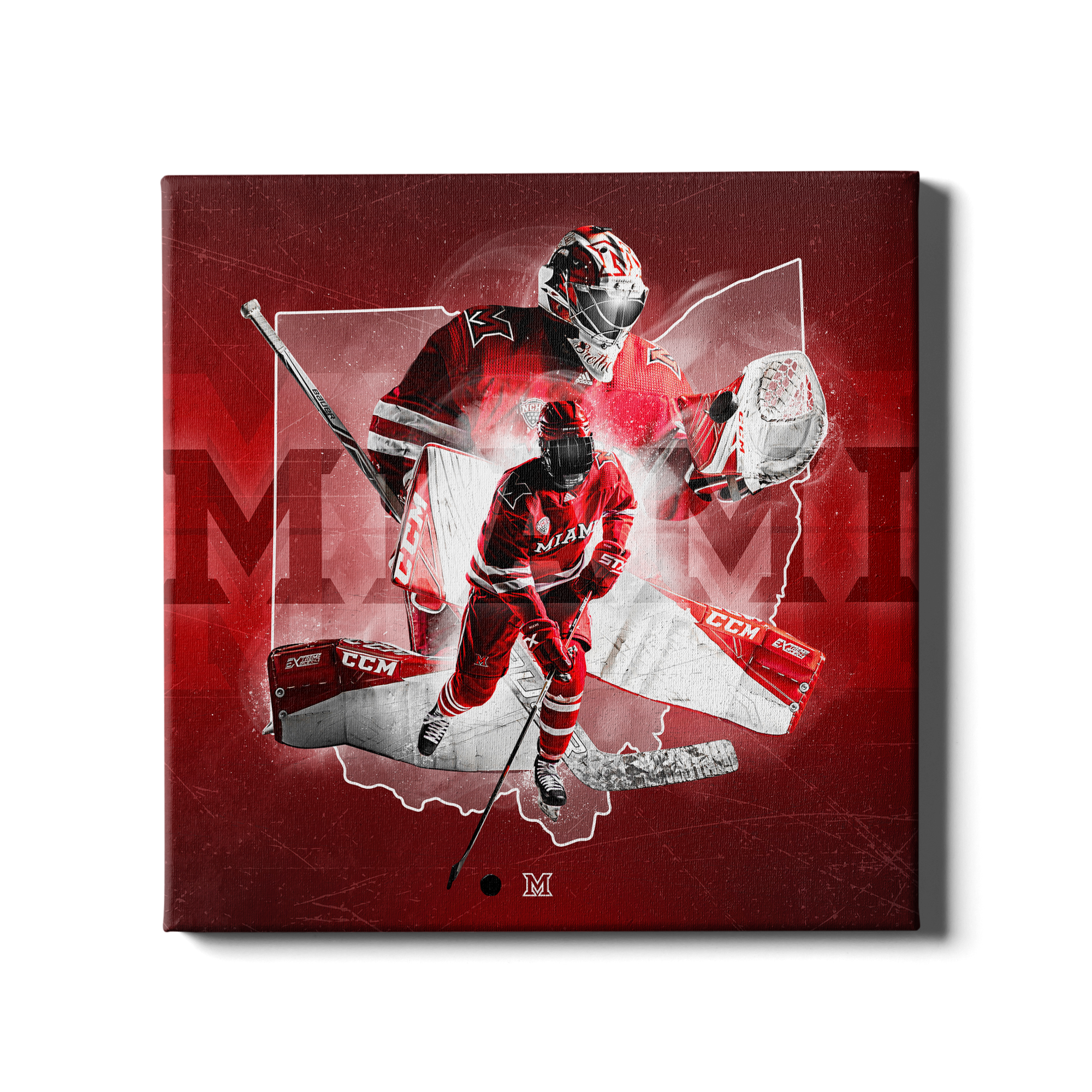 Miami RedHawks<sub>&reg;</sub> - Miami RedHawks<sub>&reg;</sub> Hockey - College Wall Art#Canvas