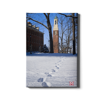 Miami RedHawks<sub>&reg;</sub> - Bela Winter Tracks - College Wall Art#Canvas