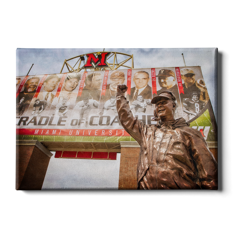 Miami RedHawks<sub>&reg;</sub> - Cradle of Coaches - College Wall Art#Canvas
