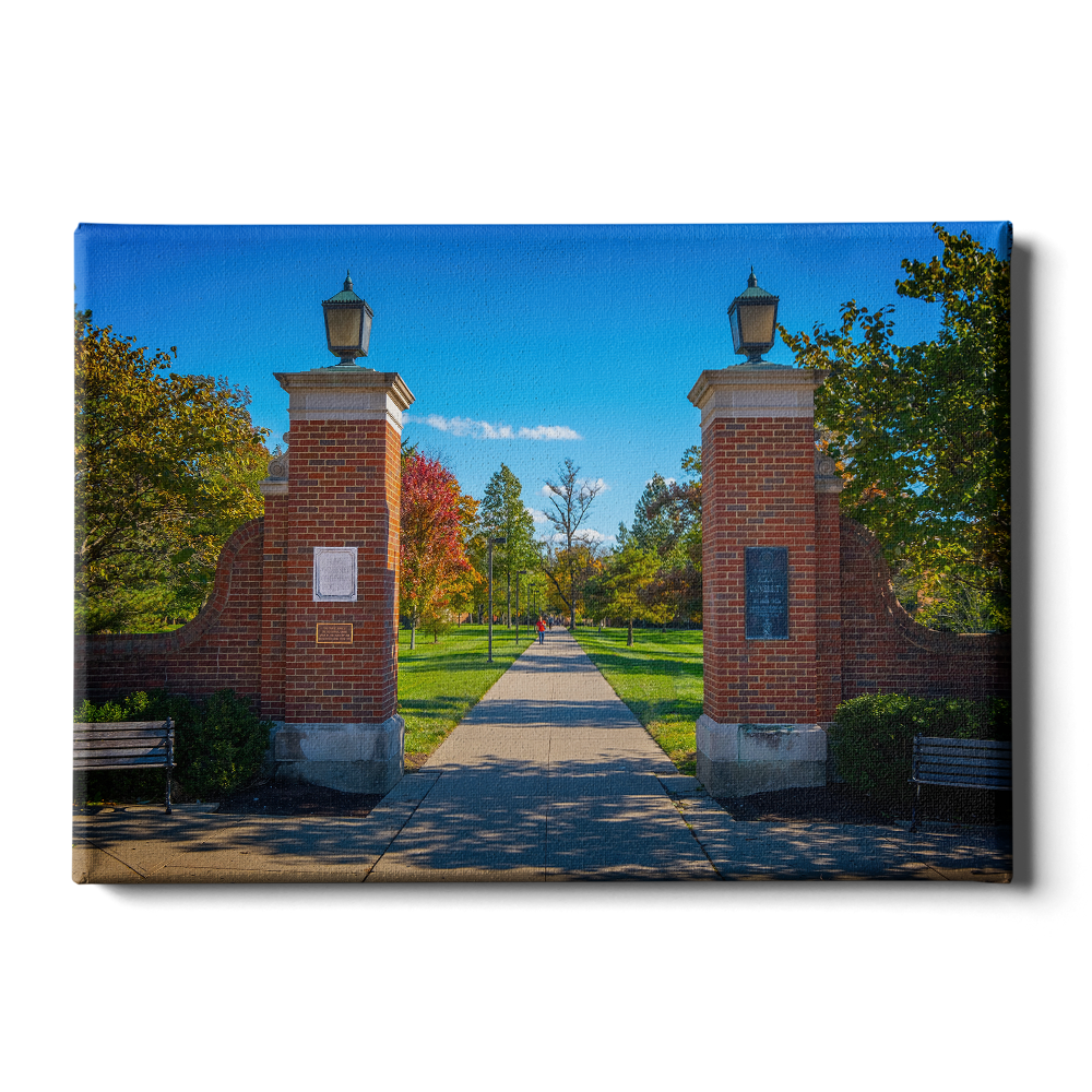 Miami RedHawks<sub>&reg;</sub> - Slant Gates - College Wall Art#Canvas