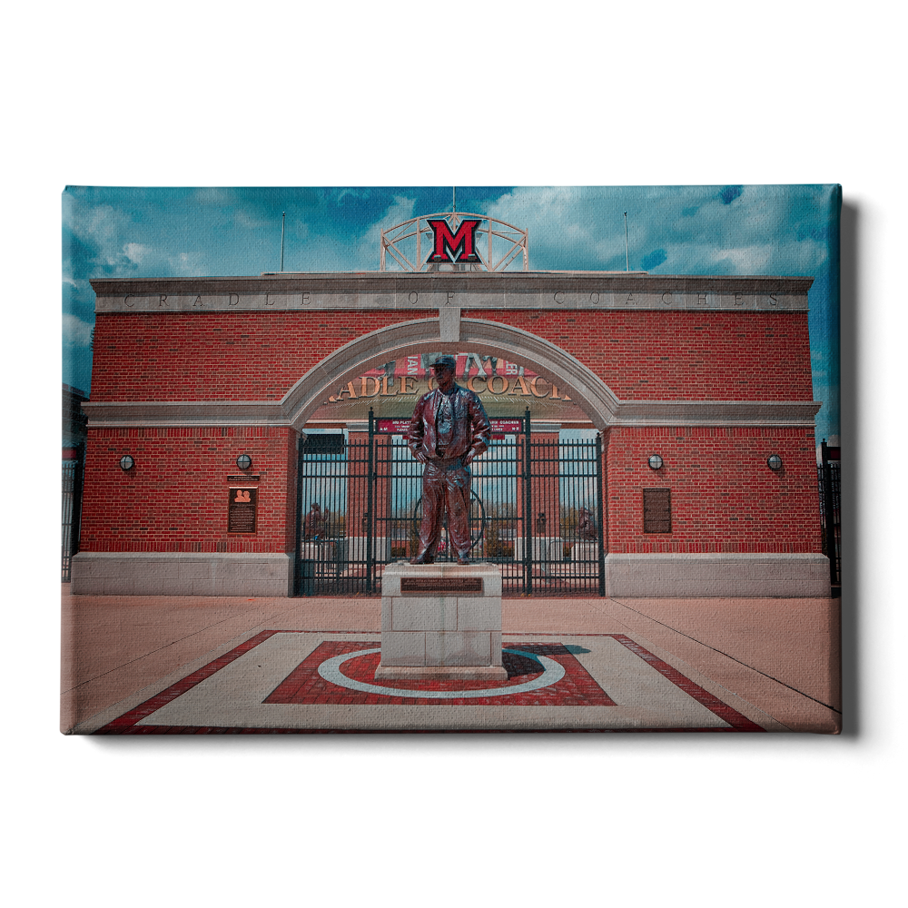 Miami RedHawks<sub>&reg;</sub> - Miami Cradle of Coaches - College Wall Art#Canvas
