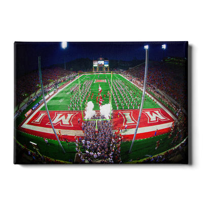 Miami RedHawks<sub>&reg;</sub> - Yager Stadium Grand Entrance - College Wall Art#Canvas