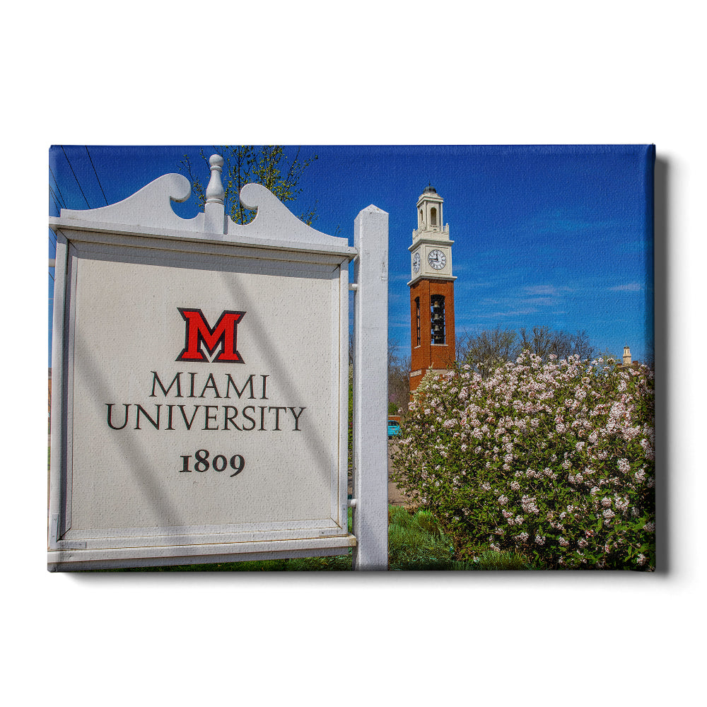Miami RedHawks<sub>&reg;</sub> - Miami University 1809 Spring - College Wall Art #Canvas
