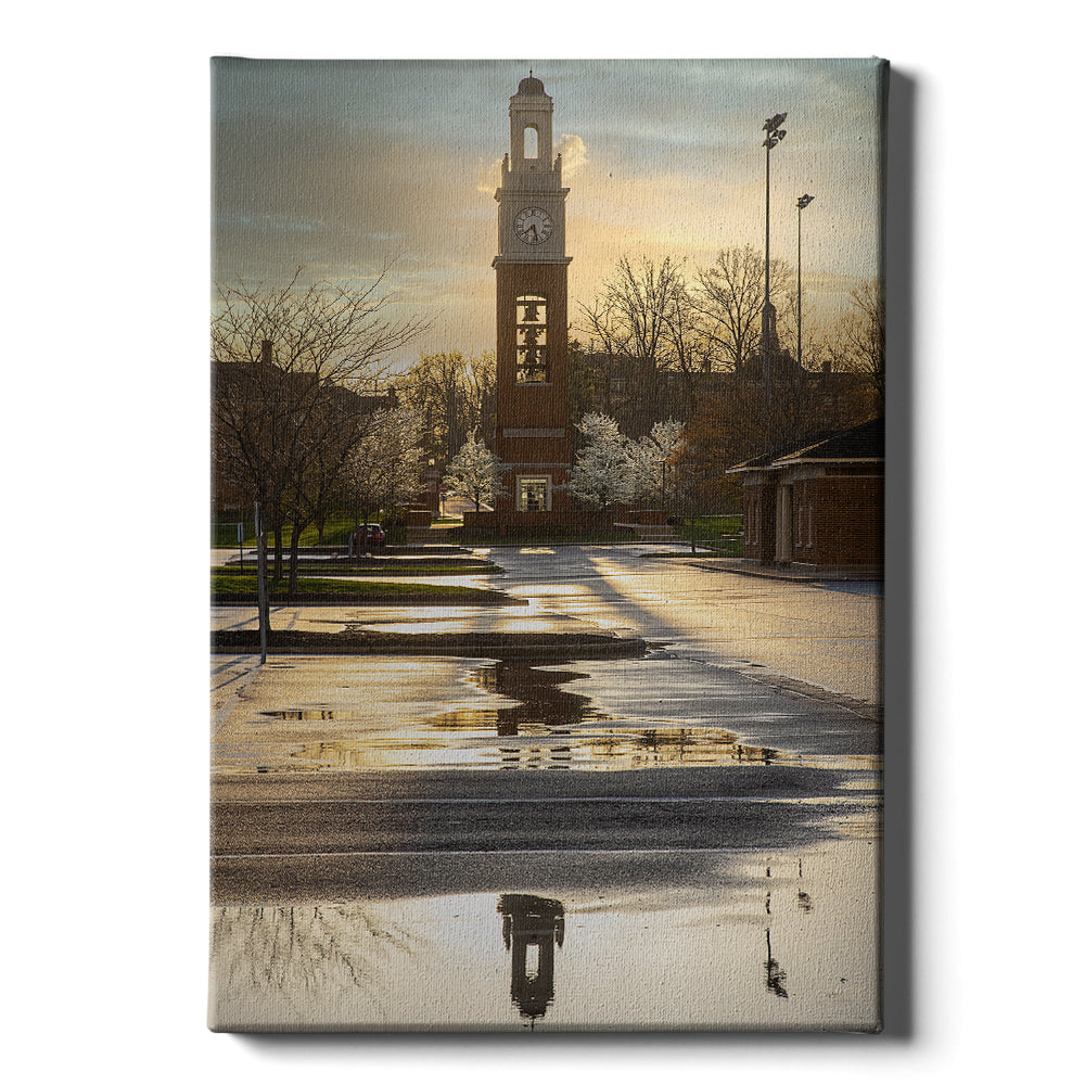 Miami RedHawks - Bell Tower Reflections - College Wall Art #Canvas