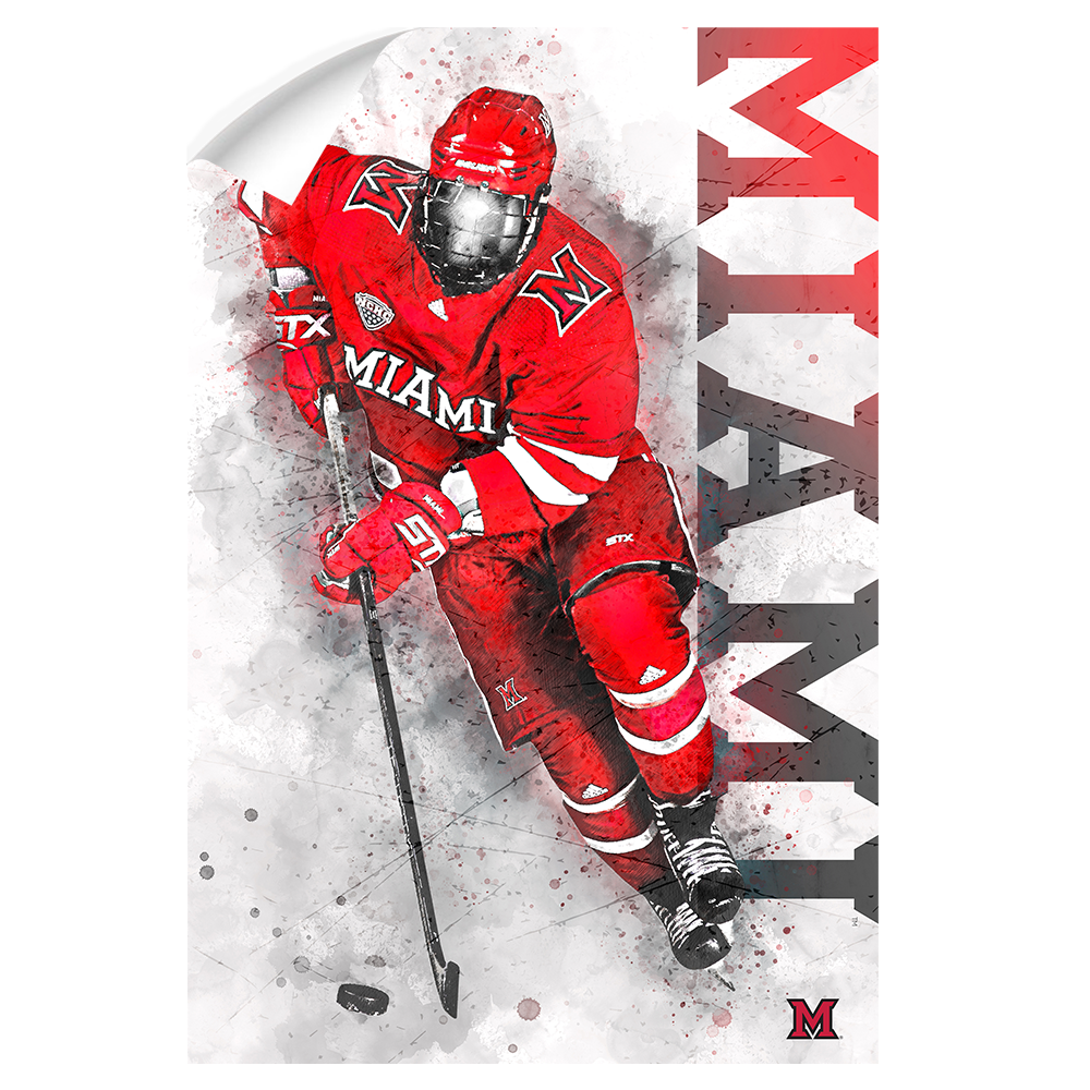 Miami RedHawks<sub>&reg;</sub> - Miami Hockey - College Wall Art#Canvas