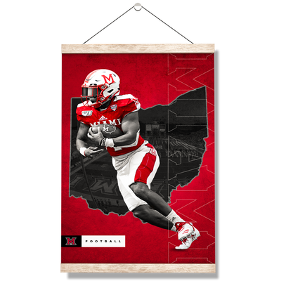 Miami RedHawks<sub>&reg;</sub> - MOH Football - College Wall Art#Hanging Canvas