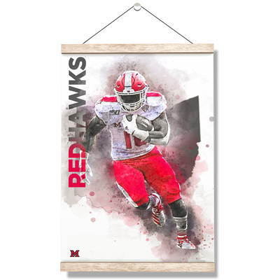 Miami RedHawks<sub>&reg;</sub> - Miami RedHawks<sub>&reg;</sub> Football - College Wall Art#Hanging Canvas
