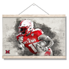 Miami RedHawks<sub>&reg;</sub> - Miami Football Paint - College Wall Art#Hanging Canvas
