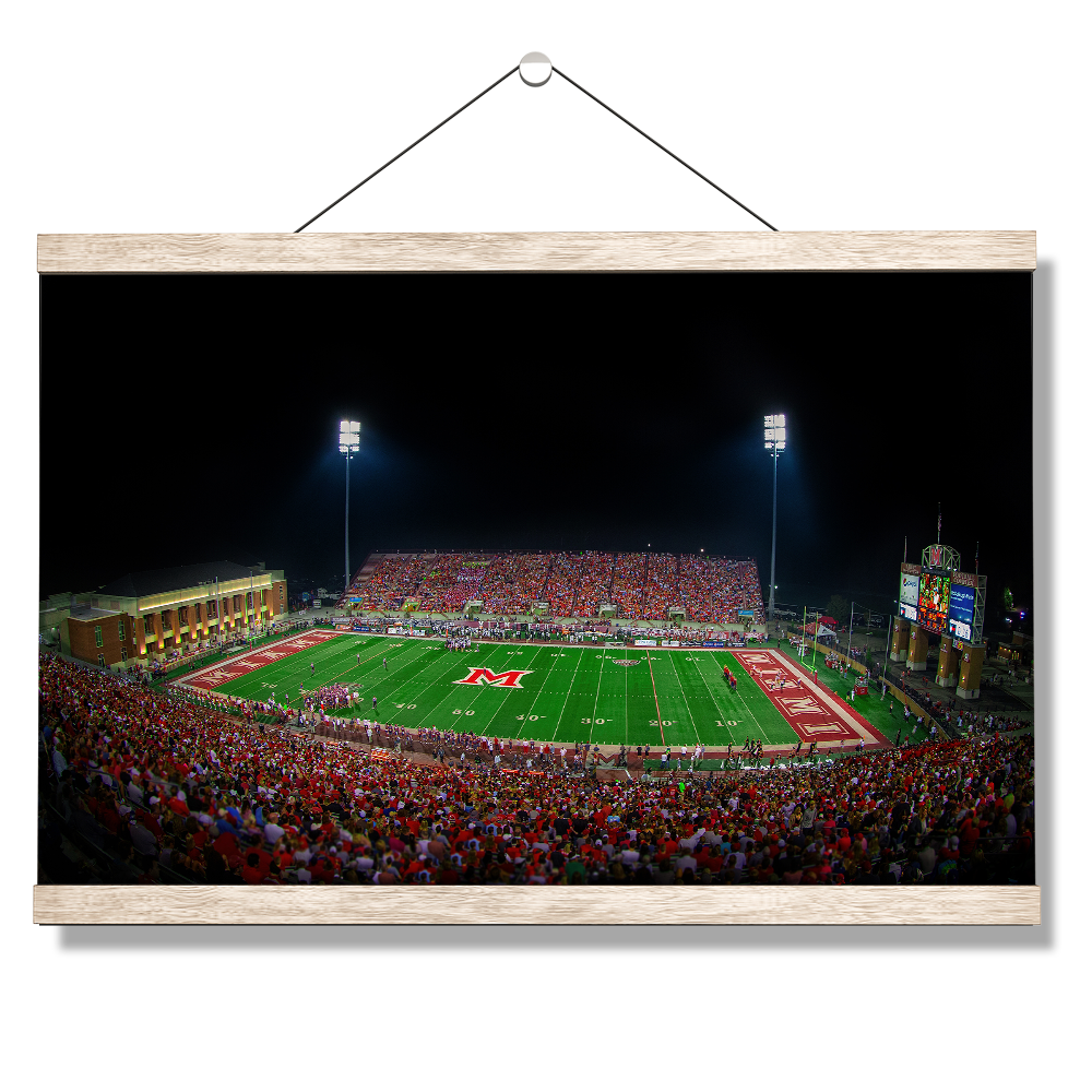 Miami RedHawks<sub>&reg;</sub> - Yager Stadium - College Wall Art#Canvas