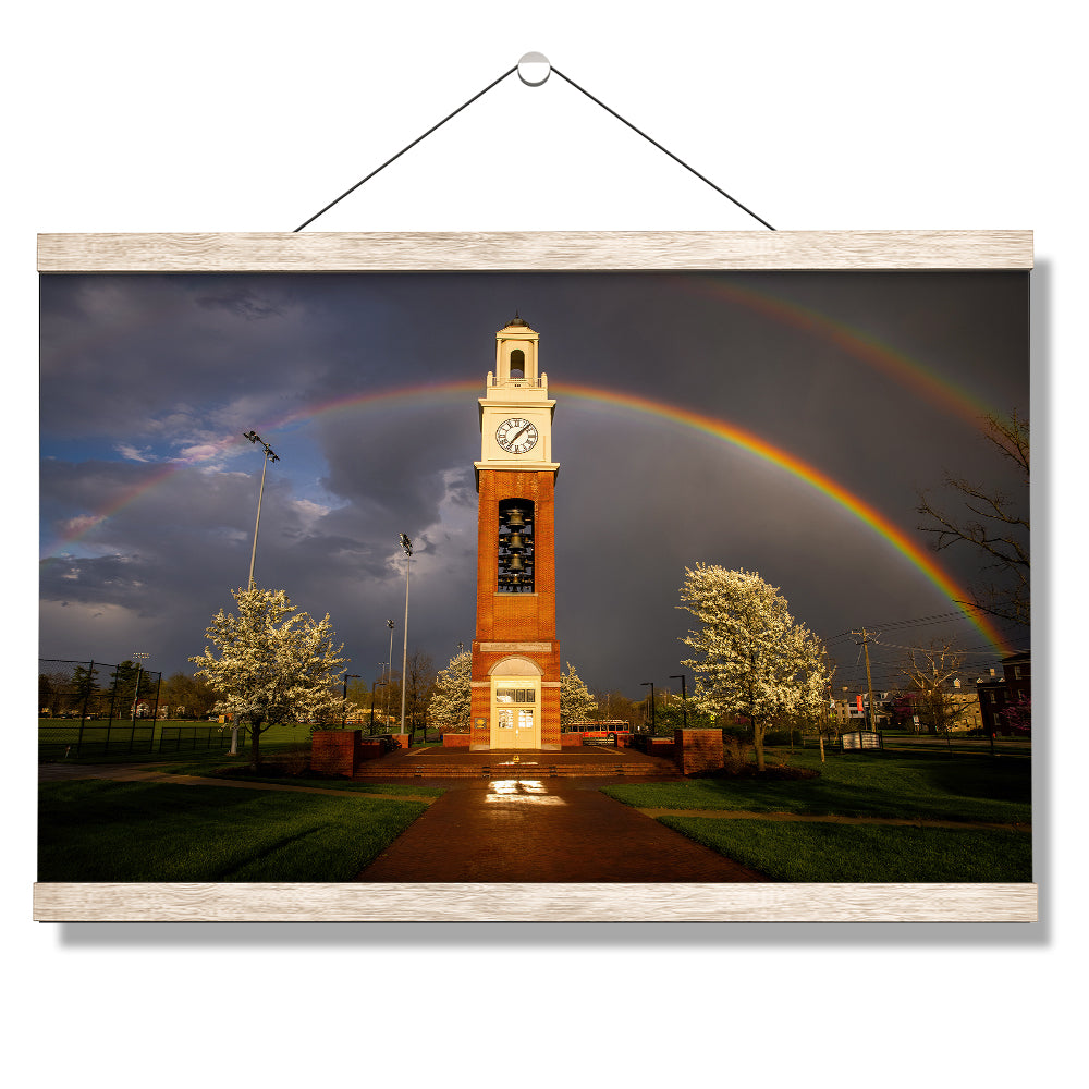 Miami RedHawks<sub>&reg;</sub> - Miami University Bell Tower Rainbow - College Wall Art #Canvas