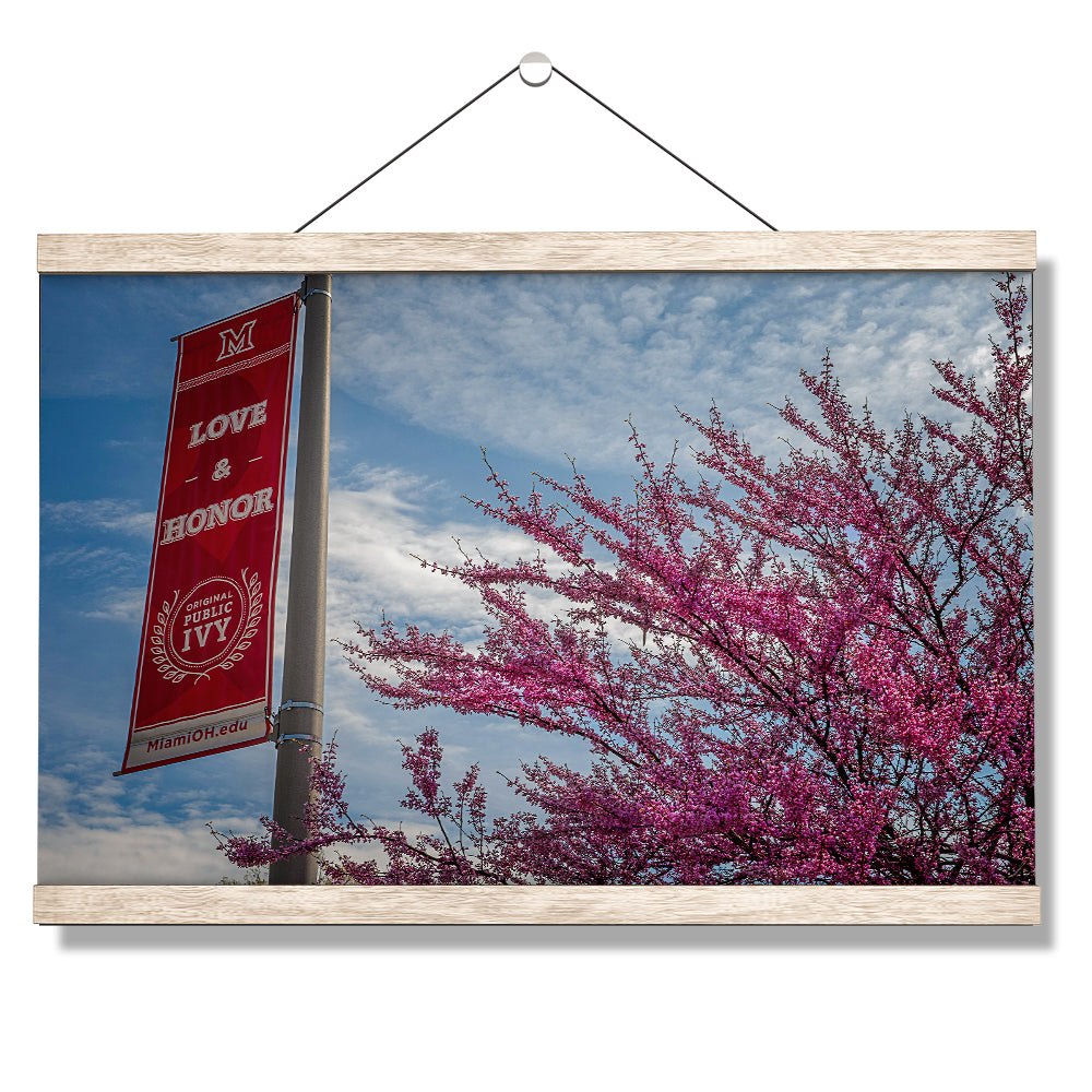 Miami RedHawks<sub>&reg;</sub> - Love and Honor - College Wall Art #Canvas