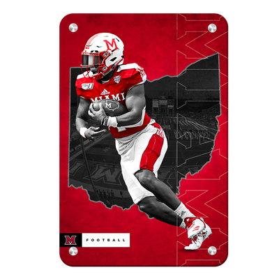 Miami RedHawks<sub>&reg;</sub> - MOH Football - College Wall Art#Metal