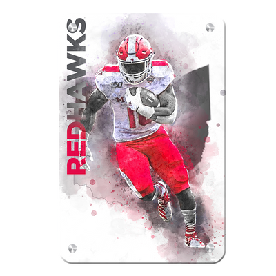 Miami RedHawks<sub>&reg;</sub> - Miami RedHawks<sub>&reg;</sub> Football - College Wall Art#Metal