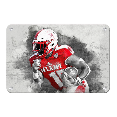 Miami RedHawks<sub>&reg;</sub> - Miami Football Paint - College Wall Art#Metal