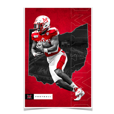 Miami RedHawks<sub>&reg;</sub> - MOH Football - College Wall Art#Poster