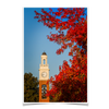 Miami RedHawks<sub>&reg;</sub> - Pulley Tower Blaze - College Wall Art#Poster