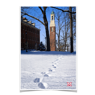 Miami RedHawks<sub>&reg;</sub> - Bela Winter Tracks - College Wall Art#Poster