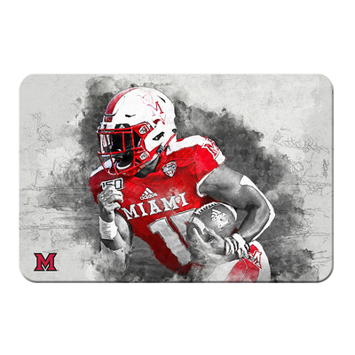 Miami RedHawks<sub>&reg;</sub> - Miami Football Paint - College Wall Art#PVC