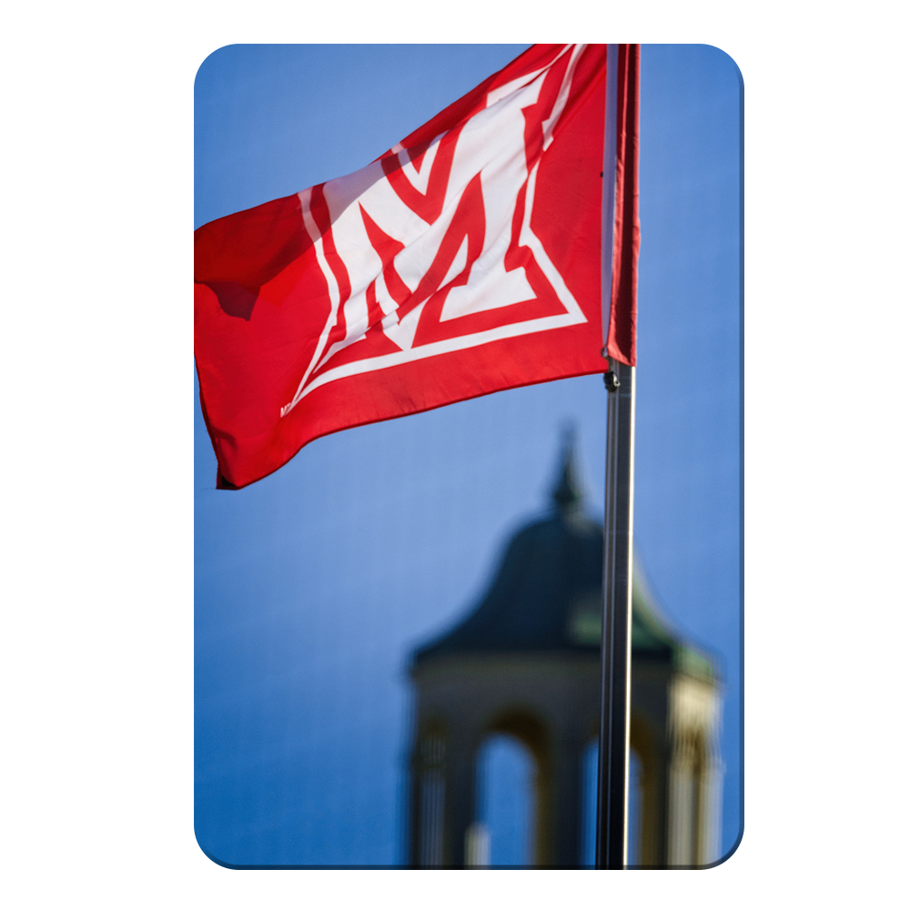 Miami RedHawks<sub>&reg;</sub> - Miami Flag - College Wall Art#Canvas