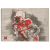 Miami RedHawks<sub>&reg;</sub> - Miami Football Paint - College Wall Art#Wood