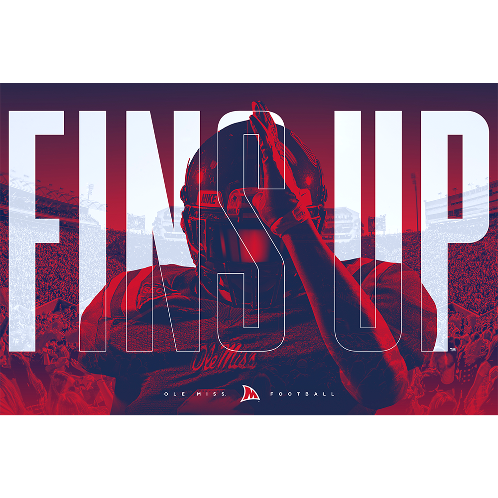 Ole Miss Rebels - Fins Up - College Wall Art #Dimensional