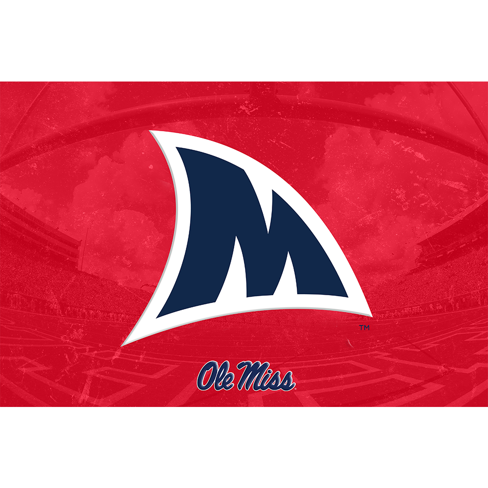 Ole Miss Rebels - Fins Up M - College Wall Art #Dimensional
