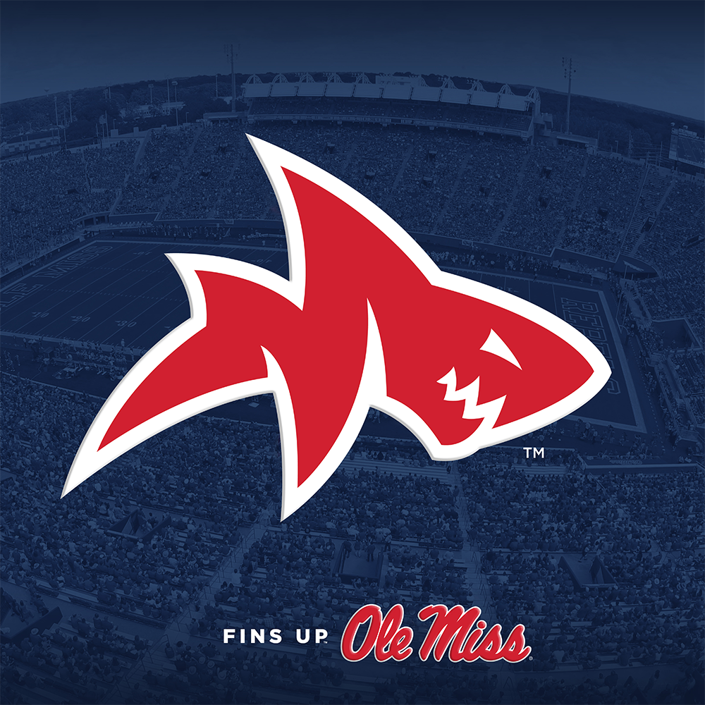 Ole Miss Rebels - Fins Up Ole Miss - College Wall Art #Dimensional