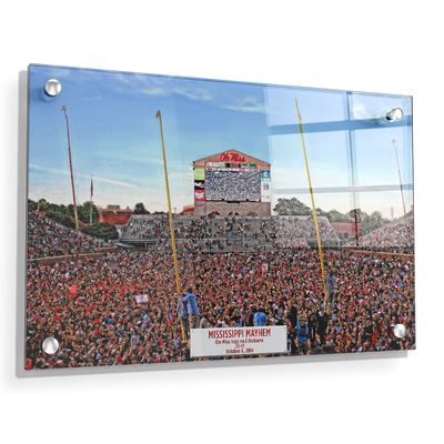 Ole Miss Rebels - Mississippi Mayhem - College Wall Art #Acrylic