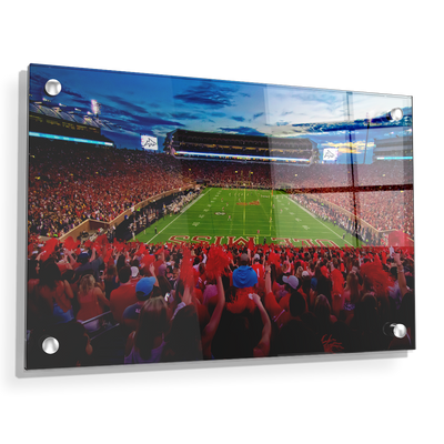 Ole Miss Rebels - Land Shark Sunset - College Wall Art #Acrylic