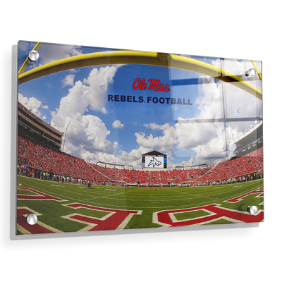 Ole Miss Rebels - End Zone Rebel Football - College Wall Art #Acrylic