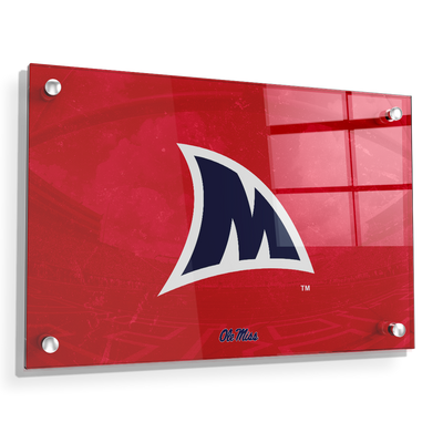 Ole Miss Rebels - Fins Up M - College Wall Art #Acrylic