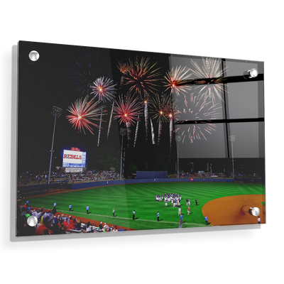 Ole Miss Rebels - More Fireworks Over Swayze - College Wall Art #Acrylic