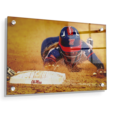 Ole Miss Rebels - Softball Safe - College Wall Art #Acrylic