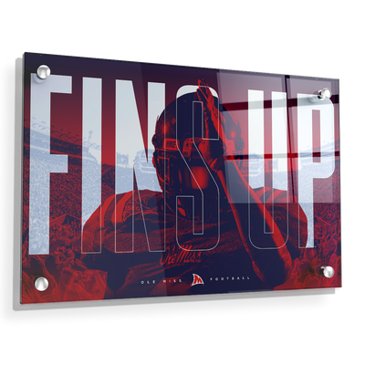 Ole Miss Rebels - Fins Up Ole Miss Football - College Wall Art #Acrylic