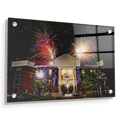 Ole Miss Rebels - Oxford University Stadium Fireworks - College Wall Art #Acrylic