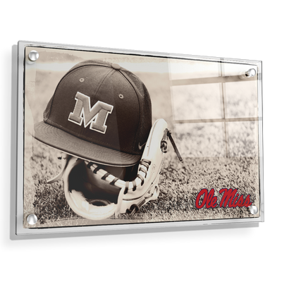 Ole Miss Rebels - Ole Miss Vintage Baseball - College Wall Art #Acrylic