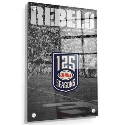 Ole Miss Rebels - REBELS 125 Years - College Wall Art #Acrylic