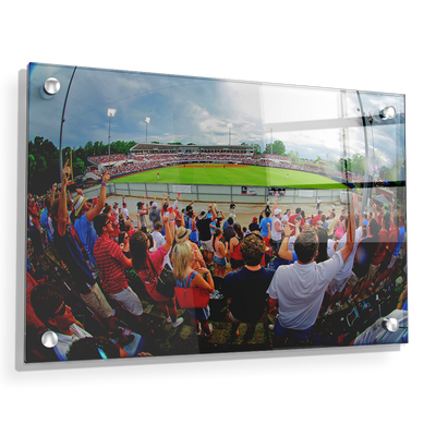 Ole Miss Rebels - Fisheye View of Swayze - College Wall Art #Acrylic