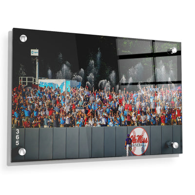 Ole Miss Rebels - Ole Miss Baseball Shower - College Wall Art #Acrylic