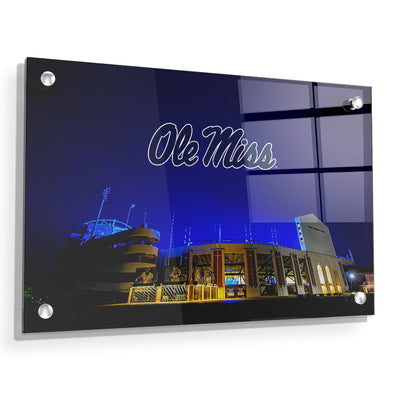 Ole Miss Rebels - Vaught Hemingway Stadium 2020 - College Wall Art #Acrylic