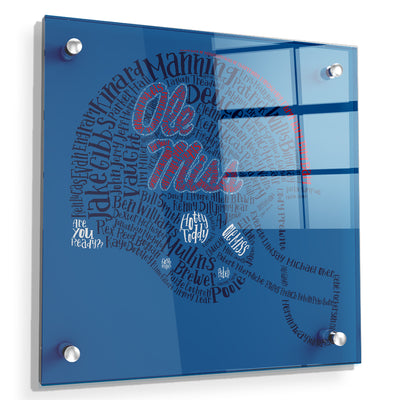 Ole Miss Rebels - Ole Miss Greats - College Wall Art #Acrylic