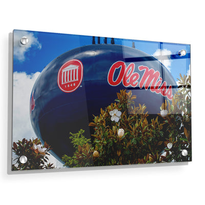 Ole Miss Rebels - Water Tower Magnolia - College Wall Art #Acrylic