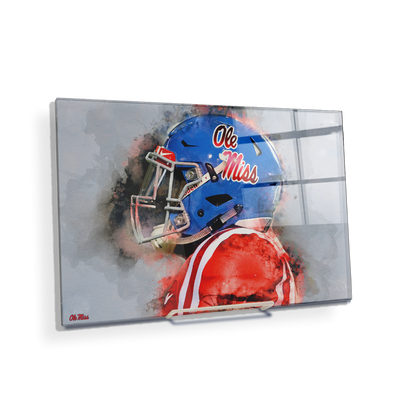 Ole Miss Rebels - Ole Miss Watercolor - College Wall Art #Acrylic Mini