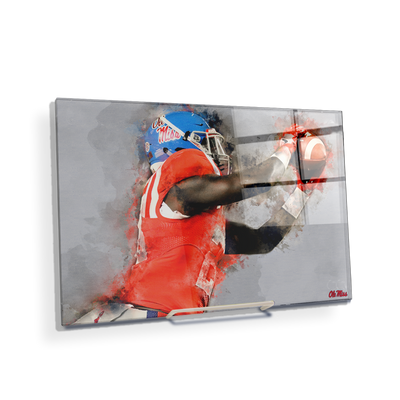Ole Miss Rebels - Ole Miss Watercolor Catch - College Wall Art #Acrylic Mini