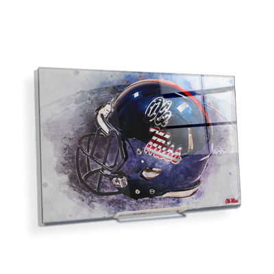 Ole Miss Rebels - Military Appreciation Day Helmet - College Wall Art #Acrylic Mini