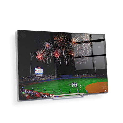 Ole Miss Rebels - More Fireworks Over Swayze - College Wall Art #Acrylic Mini