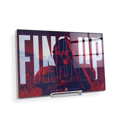Ole Miss Rebels - Fins Up Ole Miss Football - College Wall Art #Acrylic Mini
