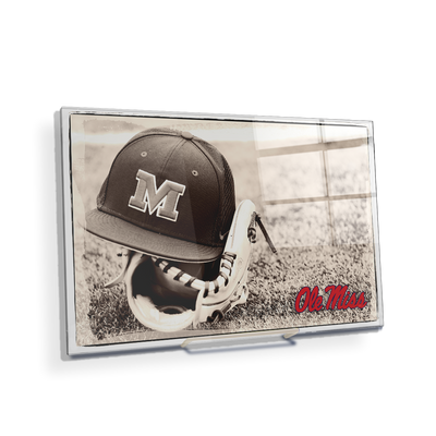 Ole Miss Rebels - Ole Miss Vintage Baseball - College Wall Art #Acrylic Mini
