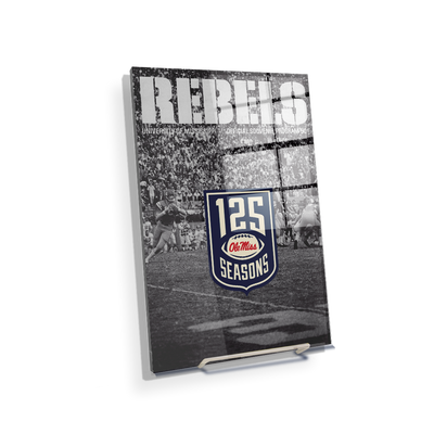 Ole Miss Rebels - REBELS 125 Years - College Wall Art #Acrylic Mini
