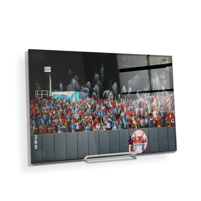 Ole Miss Rebels - Ole Miss Baseball Shower - College Wall Art #Acrylic Mini